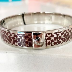 Coach Silver Signature C Bangle